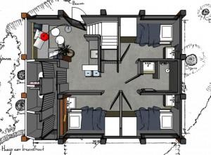 011015 bouwadvies HB 27 Z18R plattegrond 3D